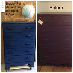 "Customer request...Dull and ho hum to ""LOOK AT ME!"". #SHABBYPAINTS #marineblue #blackReVax #carolescollections Marine Blue, Online Painting, Furniture Makeover, Painted Furniture, Shabby, New Homes, House, Home Decor, Decoration Home"