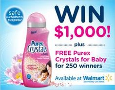 Win $1,000 from Purex! Enter by 3/08/13
