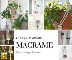 Create your very own macrame plant hanger with these free patterns. It's a great beginner project that will make an impact in any space of your home.