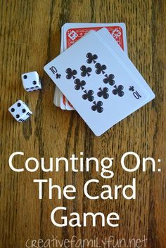 Creative Family Fun: Counting On: The Card Game #mathtutor