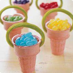 γλυκα για παιδικα παρτυ χωνακια πασχαλιατικα
