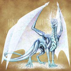 Endless Realms bestiary - Order Dragon Scion by jocarra on DeviantArt My Fantasy World, Fantasy Rpg, Anime Fantasy, Dnd Dragons, Cool Dragons, Magical Creatures, Fantasy Creatures, Ice Dragon, Beautiful Dragon