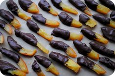 Glad these are chocolate coated oranges and not chocolate coated french fries! Chocolate Coating, Chocolate Covered, Holiday Treats, Holiday Recipes, St Nicholas Day, Candied Orange Peel, Saint Nicolas, Advent Season, Candied Nuts