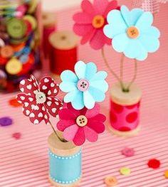 Florecitas para decorar hechas de papel ~ Portal de Manualidades