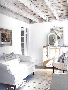 Whitewashed beams#Repin By:Pinterest++ for iPad#