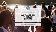 Are you lookig for workshops about Nonviolent Communication (NVC)? Check our Facebook group where people from differenc countries announce their events :) #nonviolentcommunication #nvc #workshops #onlineworkshops Nonviolent Communication, Training Courses, Countries, Workshop, Europe, Cards Against Humanity, English, Events, Group