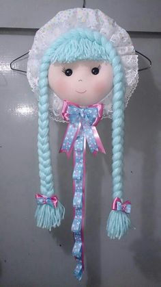 Hair Accessories Holder, Baby Girl Hair Accessories, Organizing Hair Accessories, Diy Home Crafts, Diy Arts And Crafts, Creative Crafts, Yarn Crafts, Diy For Kids, Crafts For Kids