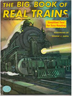 1968 The Big Book of Real Trains by Elizabeth by madforvintage, $15.00
