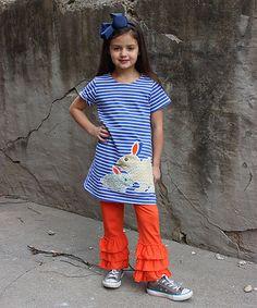 Love this Rabbit Tunic & Orange Ruffle Pant Set - Toddler on #zulily! #zulilyfinds