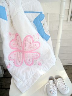 Handmade Crib Quilt Bonnet Children Baby by mailordervintage, $19.80