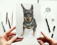 Custom pet portrait. Custom dog portrait. Custom