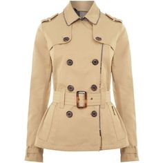 Barbour Sycamore Double Breasted Trench Coat ($170) ❤ liked on Polyvore featuring outerwear, coats, jackets, coats & jackets, tops, stone, women, long sleeve coat, trench coat and barbour