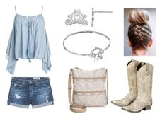 """""""Cowboy Cinderella"""" by shadzbrattsyn on Polyvore featuring AG Adriano Goldschmied, Sans Souci, Disney and LeSportsac"""