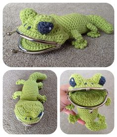 Ravelry: Gecko Coin / Change Purse pattern by Laura Sutcliffe