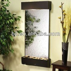 indoor waterfall glass wall fountain $156~$253