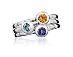 """EVEN BETTER! I think I may need a """"family"""" ring (all 4 of us) because my kids are Aquamarine and blue topaz"""