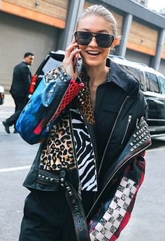 Photo via: Vogue Leather jackets are a wardrobe mainstay, we all knew that already. But how can you update this staple? With embellishments of all kinds; studs,