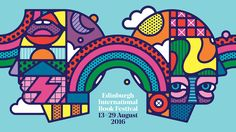 Craig & Karl and Tangent's psychedelic identity for Edinburgh International Book Festival – Creative Review