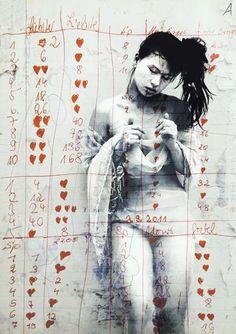 ©Jaya Suberg *love him love him not love him* Figure Painting, Figure Drawing, Kunst Online, Art Asiatique, Art Moderne, Expo, Psychedelic Art, Figurative Art, Art Images