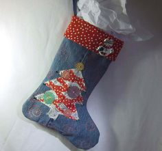 A Christmas stocking on Etsy