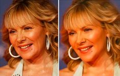 Photoshopped Celebrities Before And After - Kim Cattrall