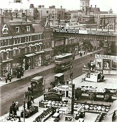 Brixton Road Old Images, Old Pictures, Old Photos, Vintage Photos, Vintage London, Old London, London Places, South London, London Photos