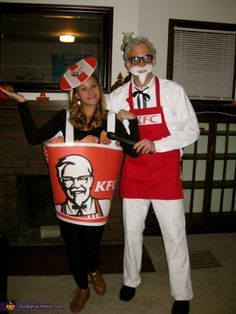 Colonel Sanders and Bucket of Fried Chicken - 2014 Halloween Costume Contest via @costume_works