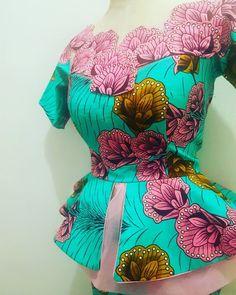 #maarcieys #ankarastyles #ankarafashion Photo by @maarciey_ng African Dresses For Kids, Latest African Fashion Dresses, African Print Dresses, African Print Fashion, African Blouses, African Tops, African Attire, African Wear, Yellow Pencil Skirt Outfit