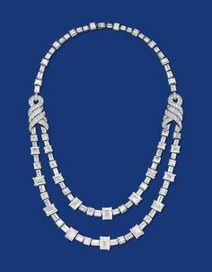 An art deco diamond necklace #christiesjewels