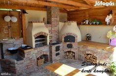 Precious Tips for Outdoor Gardens - Modern Outdoor Kitchen Bars, Outdoor Oven, Outdoor Kitchen Design, Outdoor Cooking, Grill Bar, Grill Station, Built In Braai, Diy Pizza Oven, Pergola