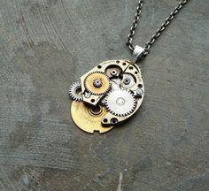 Clockwork Necklace Rectifier Machine Inspired by amechanicalmind, $42.00