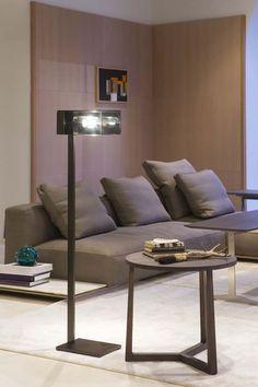 Chi-Yun floor lamp burnished - smoky glass