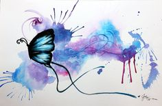 Butterfly, watercolor painting, painting, moths and butterflies, purple png Butterfly Drawing Images, Watercolor Butterfly Tattoo, Mens Butterfly Tattoo, Butterfly Tattoo Designs, Butterfly Painting, Butterfly Art, Abstract Watercolor, Flower Art, Watercolor Paintings