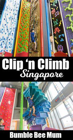 Clip 'n Climb Singapore - Indoor Rock-Climbing Park - Bumble Bee Mum