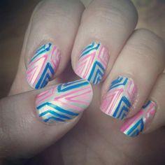 Fun design nails.