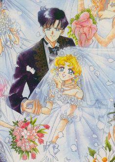Mamarou and Usagi wedding