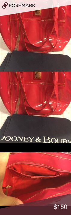 "Dooney & Bourke Pink Patent  Purse Dooney & Bourke Pink Patent  Purse - 15"" Width x 9"" Height. Comes with dust cover. Dooney & Bourke Bags Totes"