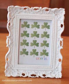 Lucky Us  - FREE Printable- St. Patrick's Day Decoration - landeelu.com