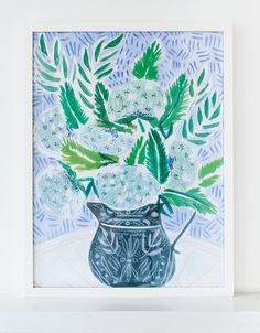 FLOWERS FOR ELIZABETH- PRINT   Lulie Wallace