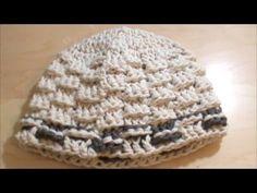 Πλεκτό σκουφάκι με πλέξη καλάθι - YouTube