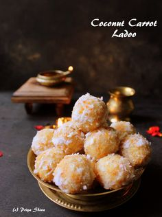 Coconut Carrot ladoo is a delicious sweet which can be made for any occasion. We just need 4 ingredients and flat 20 minutes to make these sweet balls.