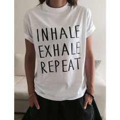 Inhale Exhale Repeat T-Shirt for Yoga Funny Yoga Top Women Girl Yogi... ($15) ❤ liked on Polyvore