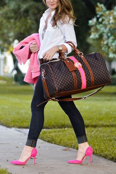 the monogrammed duffle