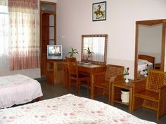 Superior room. more at http://www.chaudoctravel.com/2011/09/hoa-binh-ii-hotel/