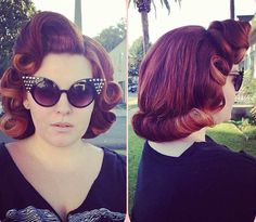 Curly Pin Up Updo Style