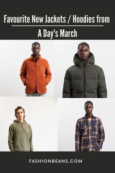 A curated outerwear collection from A Day's March is always in-style, on trend, and completely functional. Don't miss the chance to shop our absolute favorites this season. A Days March, Fashion Inspiration, Men's Fashion, Winter Jackets, Hoodies, Collection, Shopping, Moda Masculina, Winter Coats