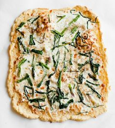 // wild garlic pizza- will try to make this with cauliflower crust