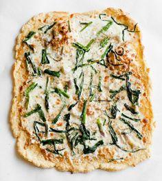 // wild garlic pizza- will try to make this with cauliflower crust