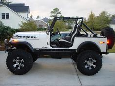 CJ7. Perfection, perhaps some slightly less aggressive tires.