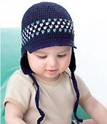Crochet Cap with Earflaps Free Baby Crochet. MEASUREMENTS months 0-3 6 9-12 To Fit Head cm 40 45 50 PATONS DREAMTIME 4 PLY 50g balls Main Colour (M – 0205) 1 1 1 1st Contrast (C1 – 3892) 1 1 1 2nd Contrast (C2 – 2949) 1 1 1 Free pattern More Patterns Like This!